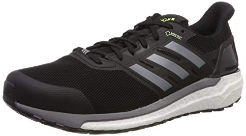adidas Herren Supernova GTX M Laufschuhe Schwarz Core Black/Grey Three F17/Hi/Res Yellow, 44 EU
