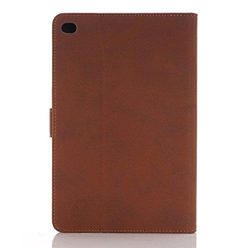 Mamaison007 WLD A001 Retro clásico estilo antiguo Material Flip PU cuero protector casos para iPad Mini 4 -
