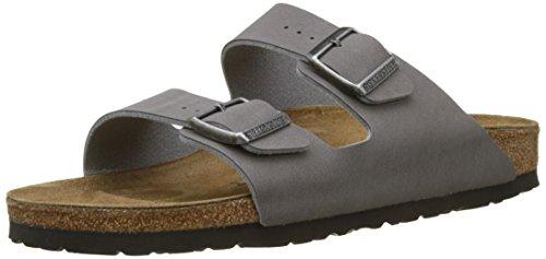 Birkenstock arizona, sandali a punta aperta uomo, grigio (dark grey dark grey), 43 eu