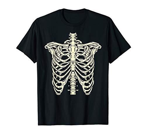 Nerds Süßigkeiten Halloween Kostüm - Skelett Rippenkäfig Röntgenschädel Knochen Halloween Kostüm