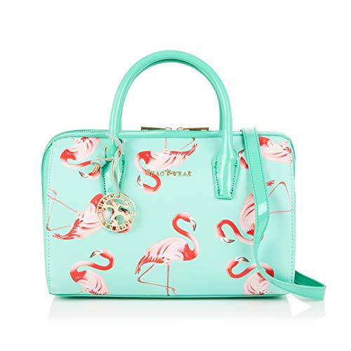 Shagwear Damen Handtasche Trendy Mehrfarbig Umhängetasche Henkeltasche (Flamingo)