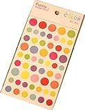 6 Sheets Diy Wasserdicht Tagebuch-Aufkleber Schüler Aufkleber Dots