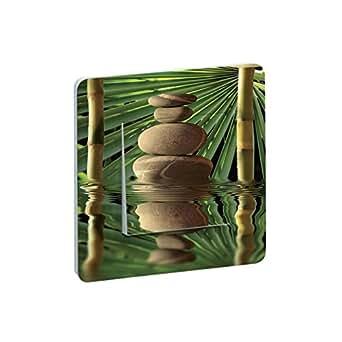 Interrupteur Salle de Bain Bambou Galets