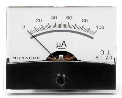 Monacor Moving-Coil-Panel Meter mit Spiegel Skala (1.0K Ohm)