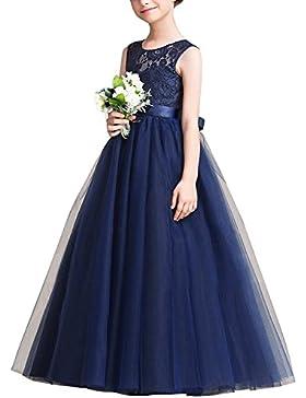 Gigileer Mädchen Prinzessin Blumenmädchenkleid Party Hochzeit Spitze Kleid 120 130 140 150 160 170
