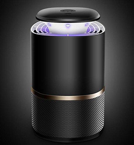 Fotoeléctrico inteligente USB Mosquito Killer Photocatalyst LED Hogar mosquito repelente mosquitera dormitorio, oficina, sala de estar (Color : M280 black)