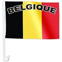 Bandierina per la macchina bandiera decorazione macchina tifosi calcio paese internazionale europei mondiali coppa europa sintetico estate festa eventi spettacolo, AFL-01-18:AFL-12 Belgio