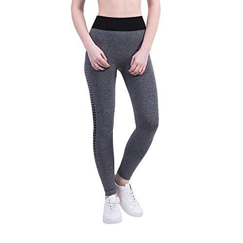VJGOAL Moda Casual para Mujer Impresionante Punto Colorido Pantalones de Yoga Deportes Correr Pilates Pantalones de Fitness Pantalones de chándal de Alta Elasticidad Leggings(x-Large,Negro)