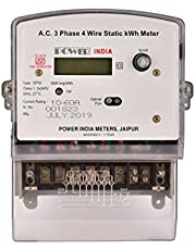 Power India Meters Three Phase Electronic Multifunction Energy Meter with Digital LCD Display