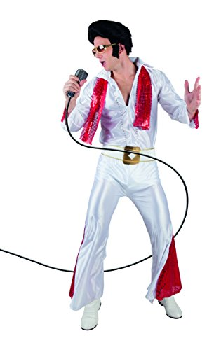 Boland Elvis Rock 'N Roll Star Costume Adulto, Bianco/Rosso, L (L (54/56) 83527
