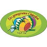 Oster-Aufkleber Sticker Ein gesegnetes Osterfest mit Ostereiern Größe: 3,5 x 2,4 cm, selbstklebende Folie, 500 Stück pro Rolle