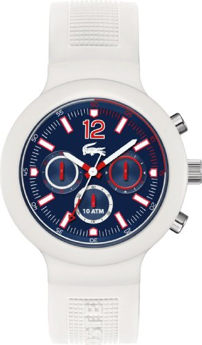Lacoste Mens White Rubber Chronograph Watch 2010705