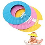EROSPA® Baby Bade-Dusch-Haube Kopfhaube Wasser-Spritzschutz verstellbar Shampoo-Augenschutz beim Haare waschen