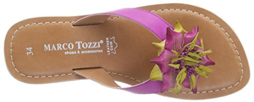 Marco Tozzi 47101, Tongs fille Rose - Pink (PINK COMB 511)