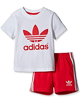 adidas Kinder Infant T-Shirt + Short Set Kleinkinder Anzüge & Bodies
