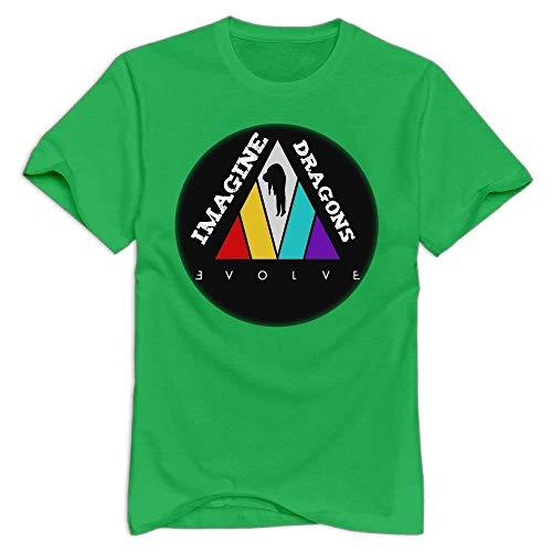 Herren Imagine The DragonsTee Shirts kurzes Hülsen-T-Shirt grafische Oberseiten für Teenager-Jungen-Herren ForestGreen M vor - Green Lime Hoodie Männer