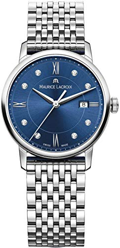 Maurice Lacroix Eliros Date Ladies Quartz Watch, Blue, 30mm, Diamonds