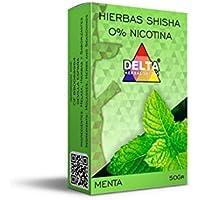 FumandoEspero Hierbas Delta para shisha SIN NICOTINA - Sabor: Menta (50 gr) - Sustitutivo de tabaco sin nicotina para cachimba