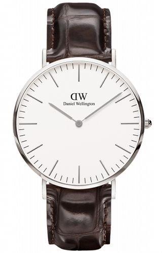 Mens Daniel Wellington York Silver 40mm Watch DW00100025