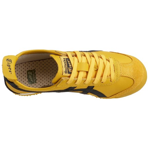Onistuka Tiger Mexico 66, Chaussures de trail mixte adulte Jaune (0490-Yellow/Black)