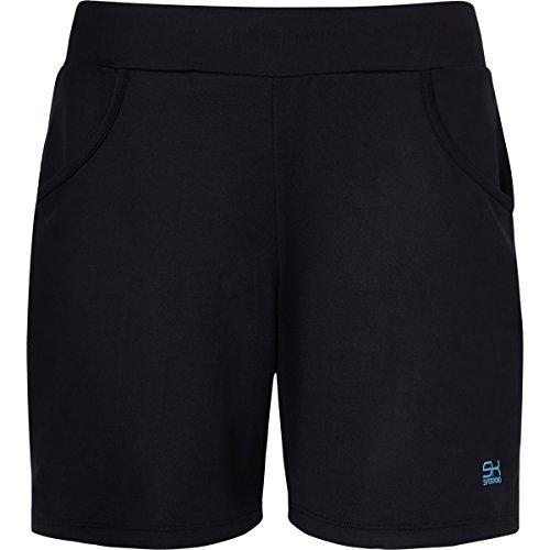 Sportkind Mädchen & Damen Tennis/Fitness/Bermuda Shorts, schwarz, Gr. M