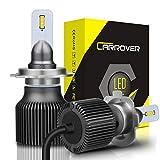 CAR ROVER SWLEDH7 Lampadine LED H7, Fari Abbaglianti o Fendinebbia per Auto, Sostituzione di Alogena Lampade e Xenon Luci, 8000LM, 6500K