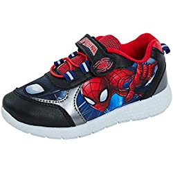 Marvel Spiderman - Zapatillas Altas, Color Negro, Talla 30 EU