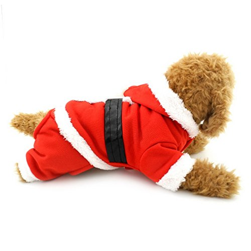 Für Hoodie Santa Kostüm Erwachsene - Pegasus Hund Weihnachten Kleidung Hund Santa Anzug Hund Hoodie Kostüm für kleine Hunde