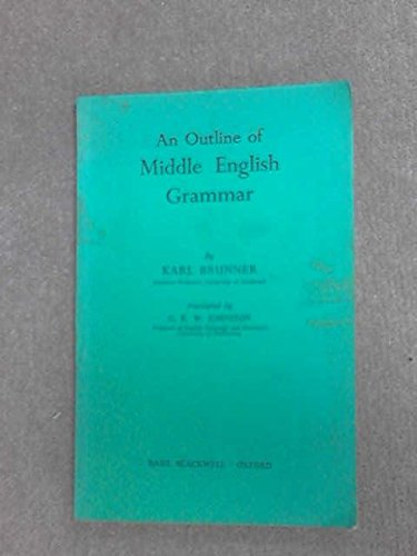 Outline of Middle English Grammar