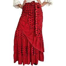 Falda Flamenca Media Luna de Lunares para Baile