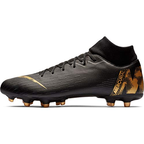 Nike Superfly 6 Academy MG, Scarpe da Calcio Uomo, Nero (Black/Mtlc Vivid Gold 077), 40 EU