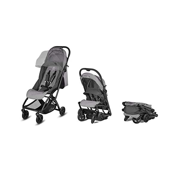 cbx ETU Ultra Compact Pushchair, Incl. Rain Cover and Travel Bag, from Birth to 15 kg, Smoky Anthracite CBX Etui jeans blue Item number: 518002497 Color: jeans blue 6