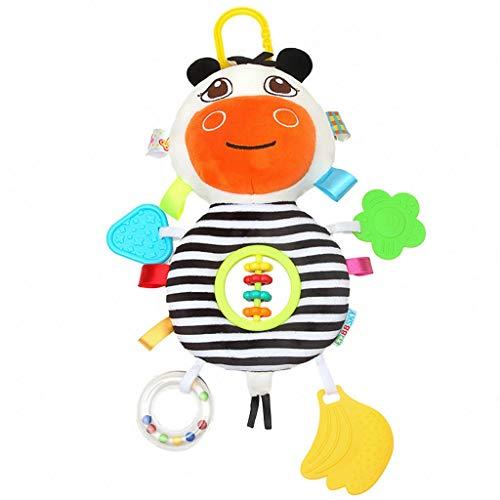 Zebra-bett In Einem Beutel (Baby Beißring Ring Spielzeug Kreative Multifunktions Zebra Kuh Plüsch Puppe Hohe Qualität Auto Hängen Bett Hängen Mütterlichen Liefert)
