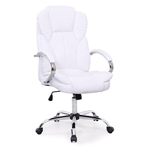 Bürostuhl Chefsessel Drehstuhl hohe Lehne Chrom hochwertig