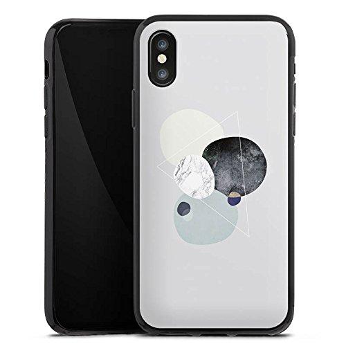 Apple iPhone 5s Silikon Hülle Case Schutzhülle Abstrakt Grafik Art Silikon Case schwarz