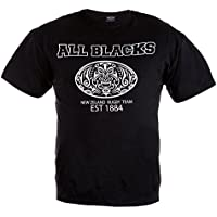 Rugby Tutti Blacks T-shirt. Nuova Zelanda Rugby squadra. Rule Out Abbigliamento sportivo. Rugby Ventole allenamento. (Nuova Zelanda Rugby Shirts)
