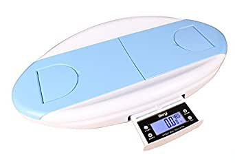 Trackonhealth , An Eligent Baby Infant Digital Electronic Weighing Scale & Digital Height Measurement Capacity - 30KG, Accuracy - 5gm, White & Blue