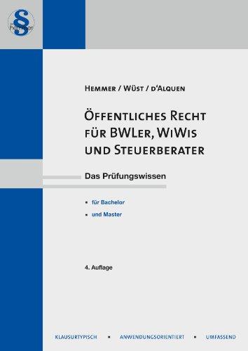 Buchseite und Rezensionen zu 'Öffentliches Recht für BWL'er, WiWis und Steuerberater' von Karl-Edmund Hemmer