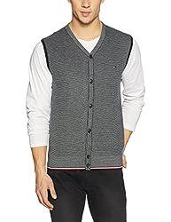 Tommy Hilfiger Mens Cotton Sweater (8907504769360_A7AMS152_L_Sky Captain)