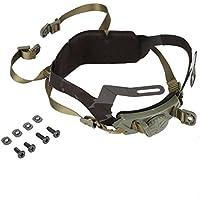 T-best Juego de rieles ajustables para casco con cerradura y correa para la barbilla para cascos tácticos al aire libre con tornillos y pernos, Verde