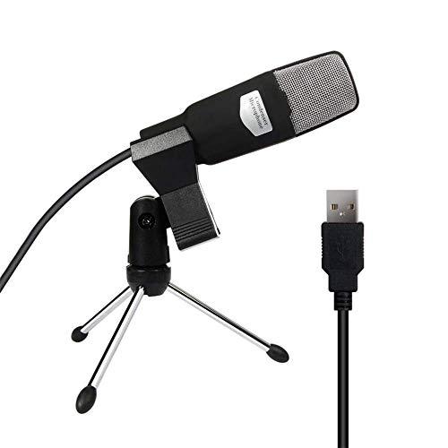 YWT USB-Mikrofon, Plug & Play-Home-Studio-Kondensatormikrofon für YouTube-Aufnahme, Google Voice Search, Spiele, Mac und Windows-Computer (Google Qq)