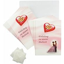 Karten Hochzeit Rosa   Rot   Weiß: Einladungskarten, Dankeskarten,  Tischkarten, Menükarten,