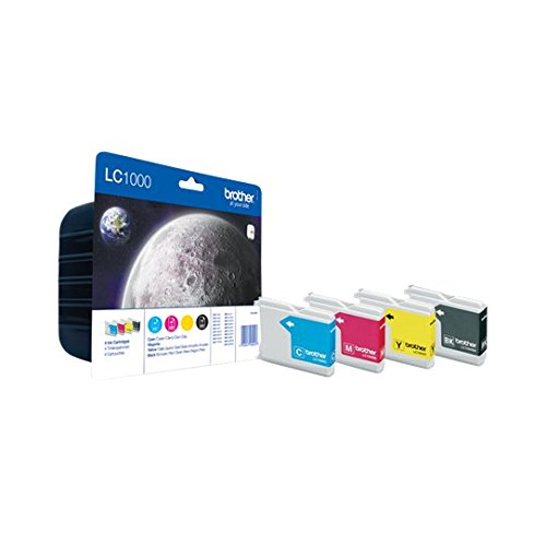 Brother LC1000 Value Pack Cartouche d'encre d'origine 1 x noir, jaune, cyan, magenta 400 pages