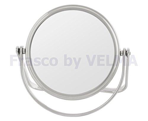 Frasco by VELMA - RS125-5x - Handgefertigter zweiseitiger Reise- Hand- Stand-Kosmetikspiegel,...