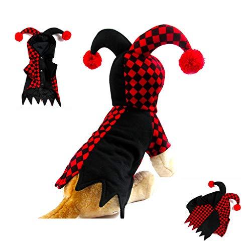 Children's Kostüm Star Christmas - Weihnachtskostüm - Weihnachten hässliche Strickjacke Hund Tierbedarf Clown-Kostüm-Geschenk (Farbe : A, Größe : S)