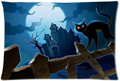 Halloween Pumpkin jack-o'-lantern spirit festival Beautiful Design Cushion Case Throw Pillow Covers 20x30 inch (one side)