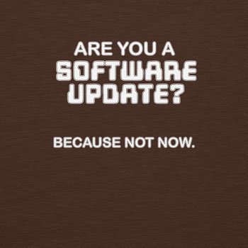 Planet Nerd - Are you a Software Update - Herren T-Shirt Braun