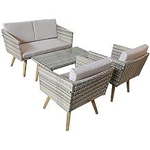 jardn set cassis amarillo de gris claro moteado lounge jardn muebles de jardn set nuevo
