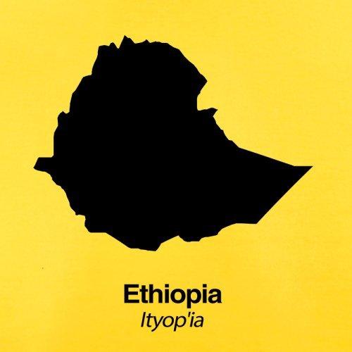 Ethiopia / Äthiopien Silhouette - Herren T-Shirt - 13 Farben Gelb