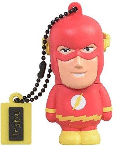 Tribe DC Comics Action Figure Flash Chiavetta USB da 16 GB Pendrive Memoria USB Flash Drive 2.0 Memory Stick, Idee Regalo Originali, Figurine 3D, Archiviazione Dati USB Gadget in PVC con Portachiavi
